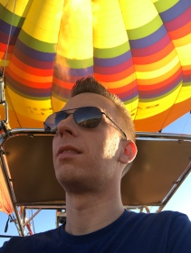 Up up and away in a hot air balloon.