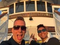 We are on a boat! woah!